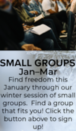 Winter Small Groups Website & Email Grap