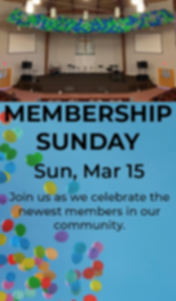 Membership Sunday Website & Email Graphi