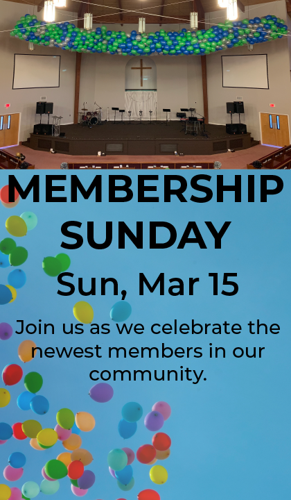 Membership Sunday Website & Email Graphi