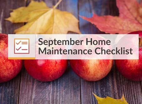 September Maintenance Tips