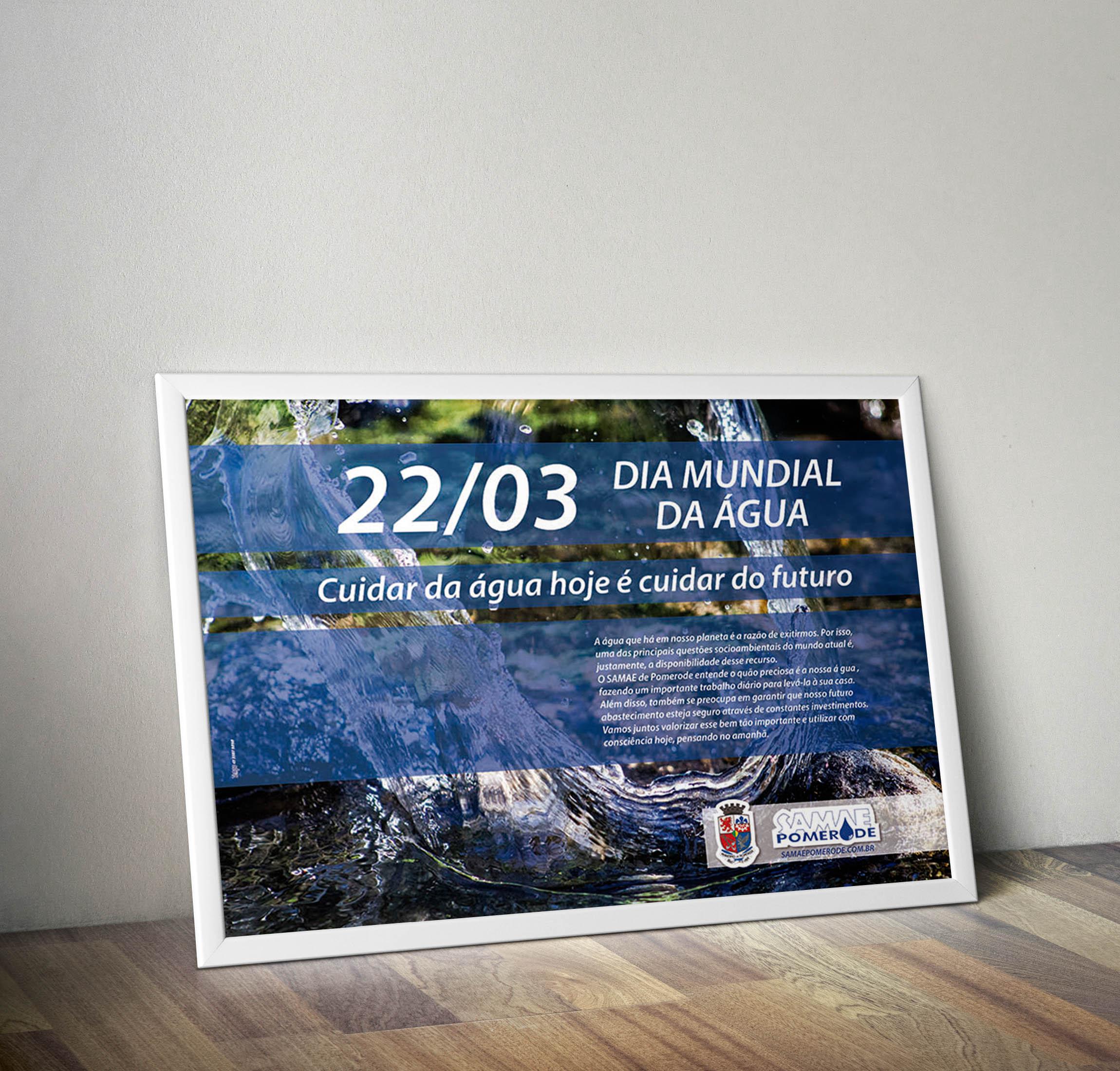 Poster dia da agua