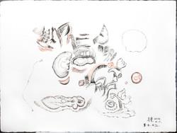 A316黑白夢 日記. 紙 油彩 67x57cm 2014c
