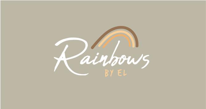 Rainbows By El - Thank You Card 90mm x 4