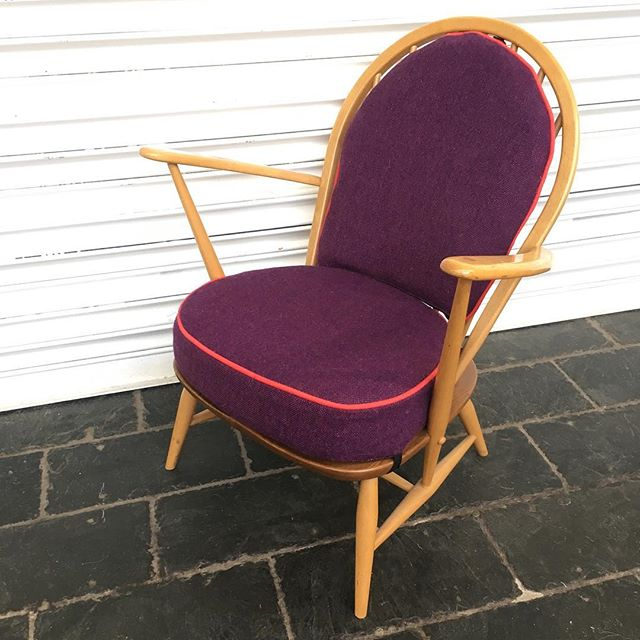 Another Ercol in _butefabrics purple & pink tweed away this week