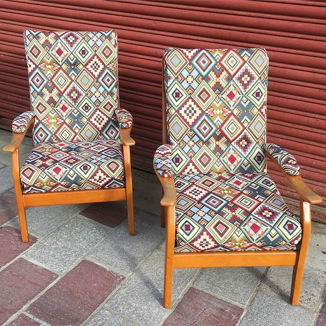 Pair of Cintique chairs away today