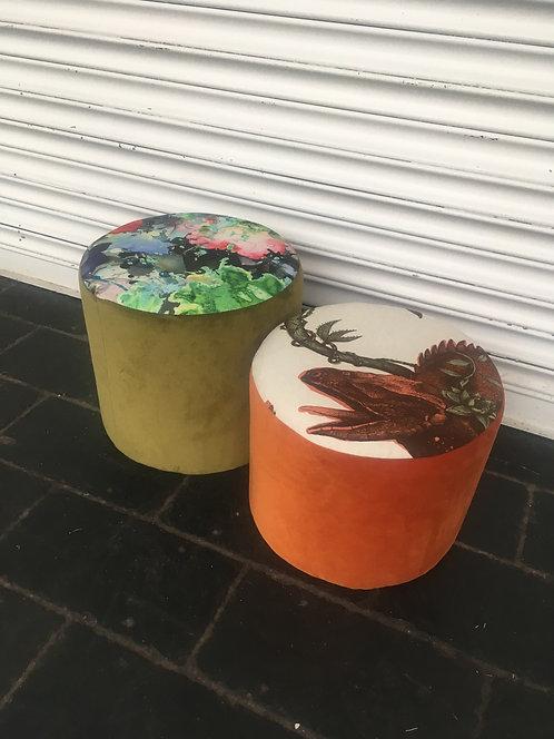 Timorous beasties footstool