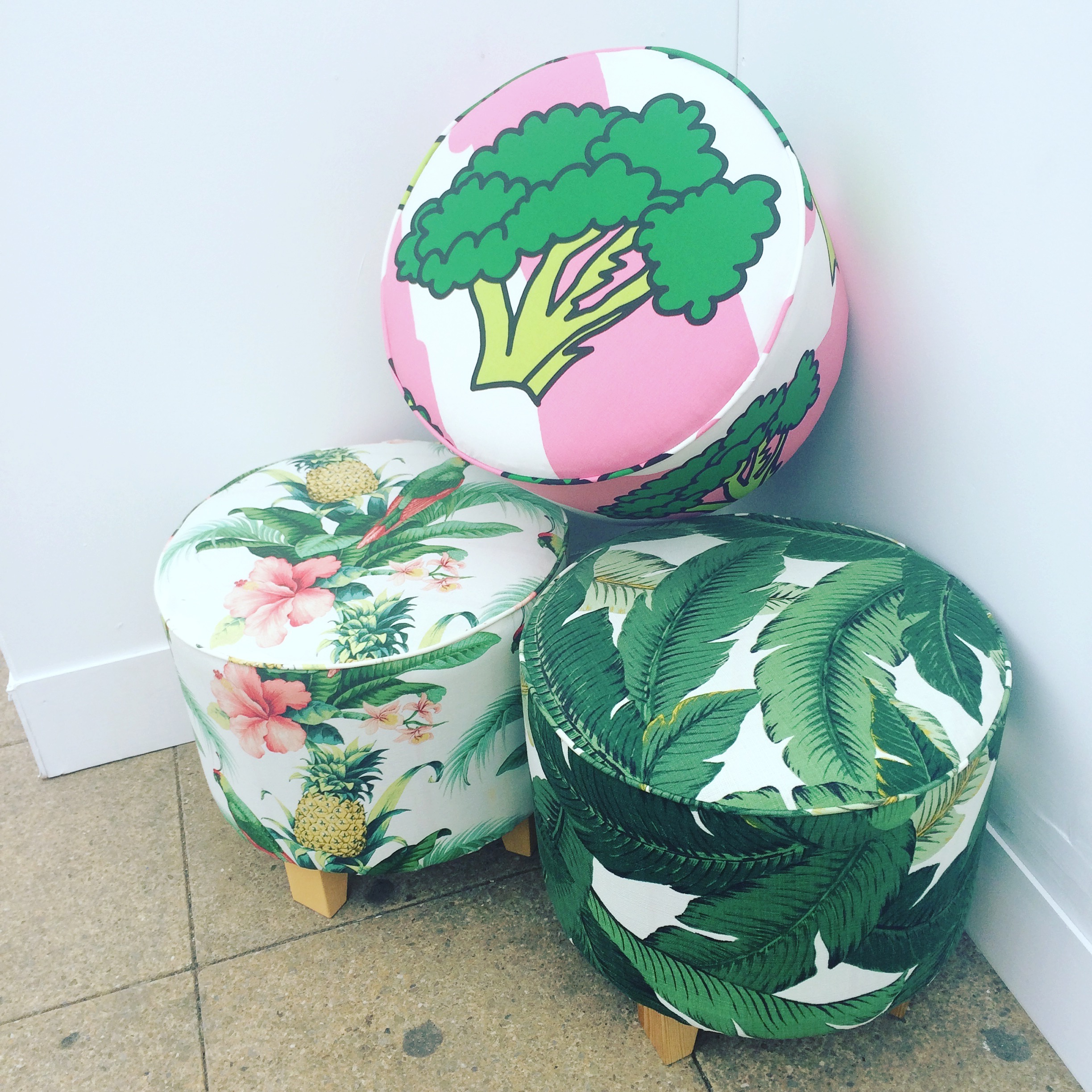 Upcycled footstools