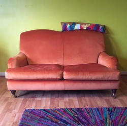 We now have a sofa! A lovely Laura Ashle