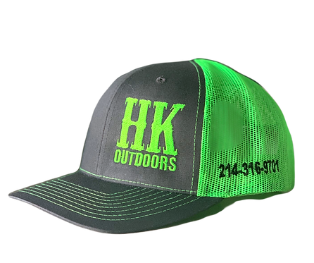 HKO Hat - Charcoal & Green