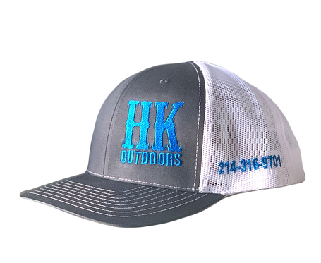 HKO Hat - Charcoal & White
