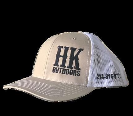 HKO Hat - Tan & White