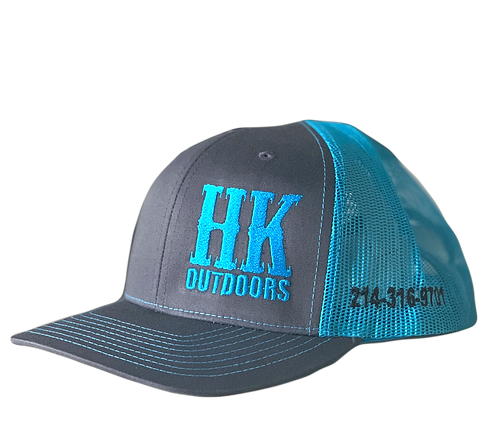 HKO Hat - Charcoal & Blue