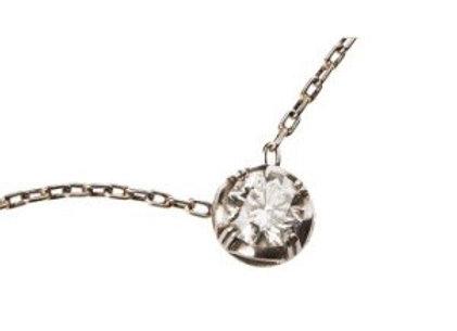 Naszyjnik - Kwiatek z brylantem w platynie