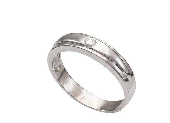Pierścionek-obrączka z brylantem