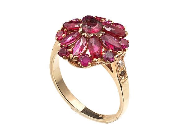 Pierścionek z rubinami