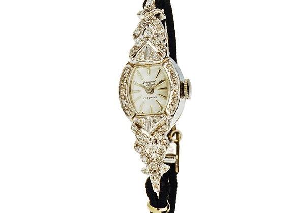 Zegarek biżuteryjny z diamentami