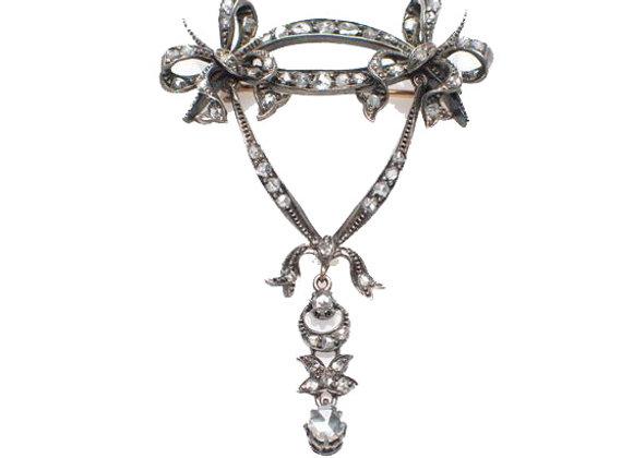 Broszka Dwie Kokardki z diamentami