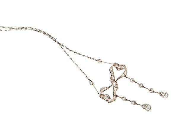 Francuski XIX-wieczny naszyjnik z diamentami