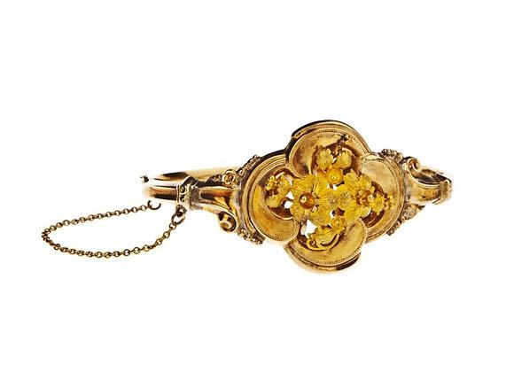 Bransoletka ze złota z motywem kwiatów