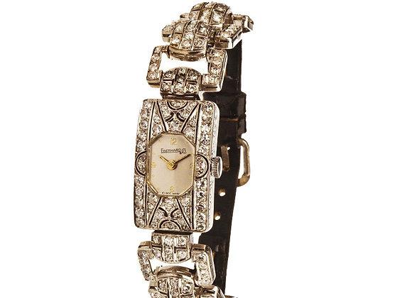 Zegarek Art-deco z diamentami