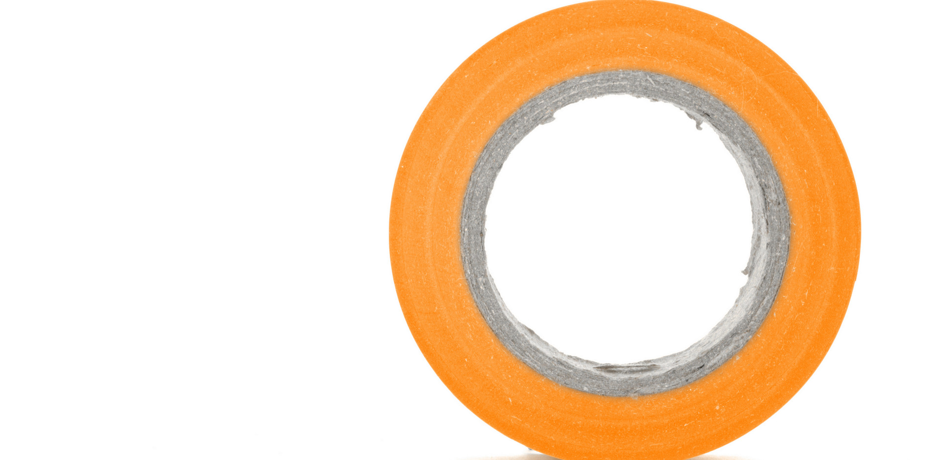 Protecting sticky orange insulating tape