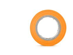Protecting sticky orange insulating tape
