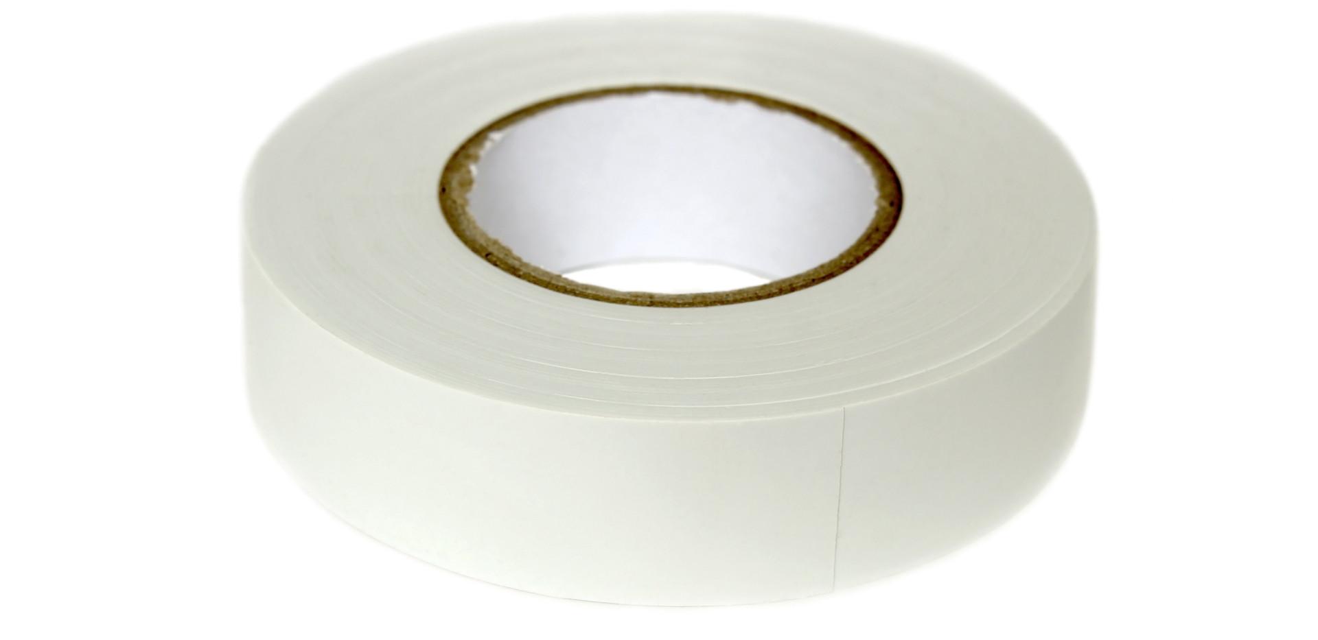 Hank of white PVC insulation tape for el