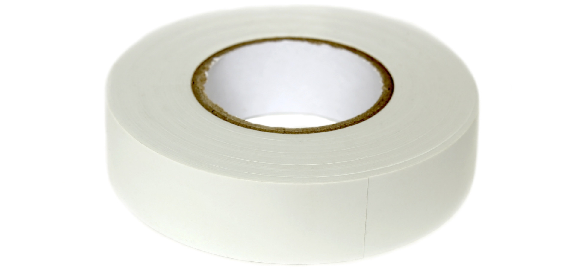 Hank of white PVC insulation tape for el