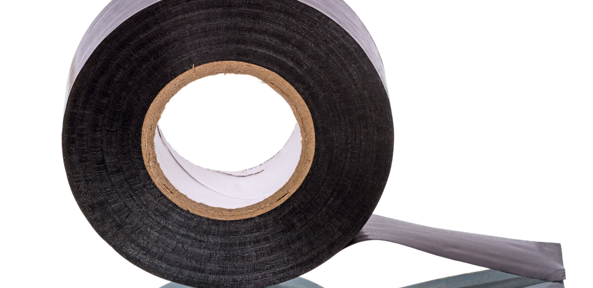 Roll of black Insulating Tape isolated o