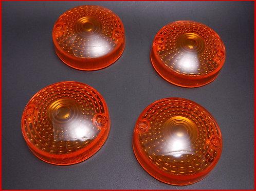 GS400/GS750 ウインカーレンズ オレンジ(4枚)