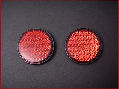丸型 リフレクター ボルト留め レッド(2枚)