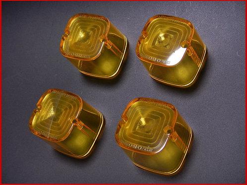 角型ウインカー用 レンズ イエロー(4個SET)