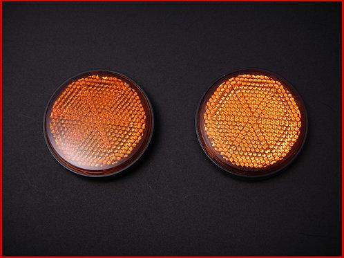 丸型 リフレクター ボルト留め オレンジ(2枚)