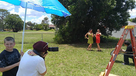 Behind the scenes of the fundraiser shoot for a reptile rescue in Florida