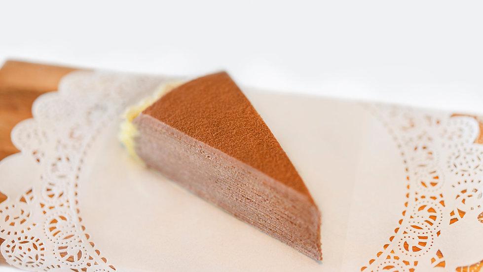 Chocolate Mille Crêpes - Single Slice