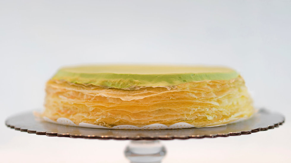 9 or 12 inches - Matcha Mille Crêpes