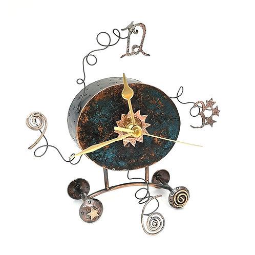 Spirals and Stars Clock