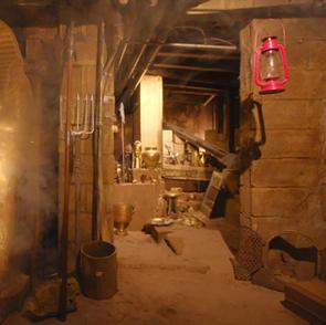 遺跡の発掘現場のバー