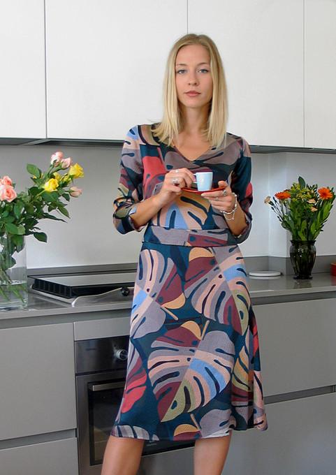 1-Monika-Varga-Silk-Dress-Printed-leaves