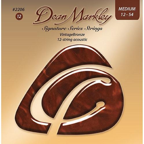 Dean Markley Vintage Bronze Medium 12 String 12-54 Acoustic Strings Set