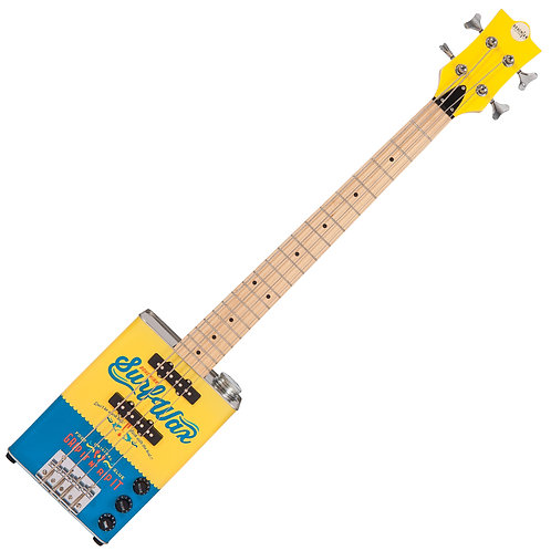 Bohemian Oil Can Bass Guitar ~ Surf Wax