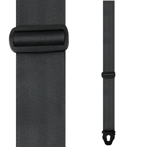 Perris Lock Seatbelt Guitar Strap ~ Black