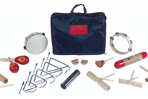 PP World Latin Percussion Set with carry bag