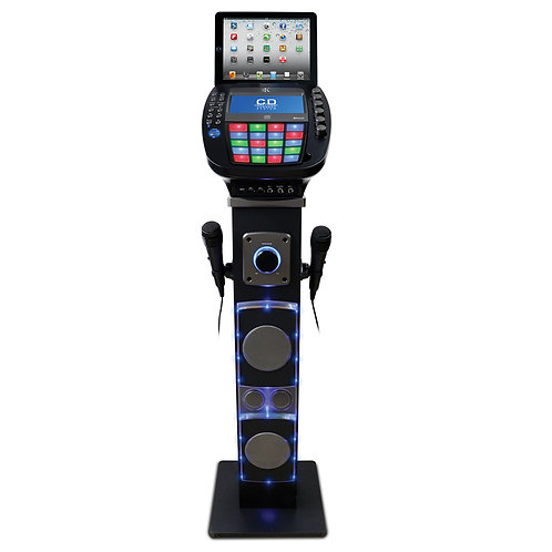Easy Karaoke Bluetooth System with Speaker Pedestal