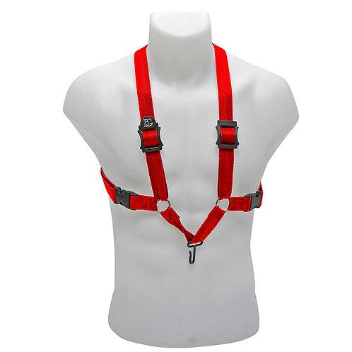 BG Alto, Tenor & Baritone Sax Harness ~ Red ~ Metal Hook