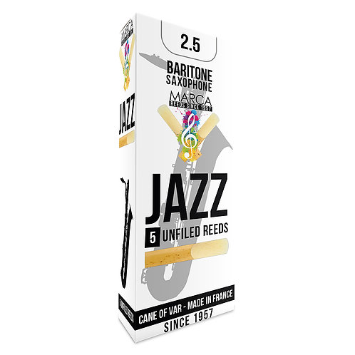 Marca Jazz Unfiled� Reeds - 5 Pack - Baritone Sax - 2.5