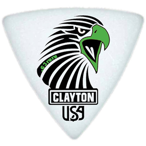 Clayton Acetal Sharp Rounded Triangle .63mm (12 Pack)