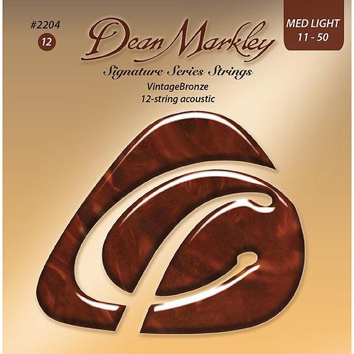 Dean Markley Vintage Bronze Medium Light 12 String 11-50 Acoustic Strings Set
