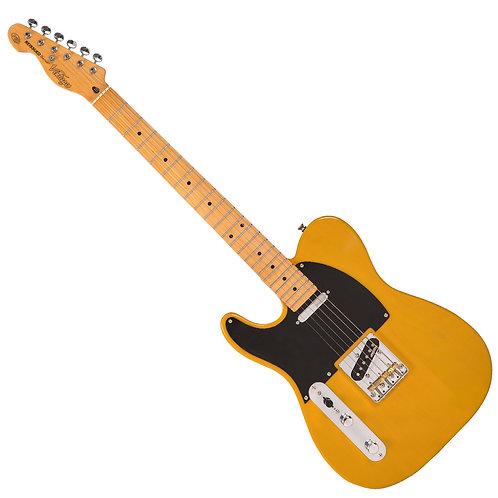 Vintage V52 ICON Electric Guitar ~ Left Hand Butterscotch