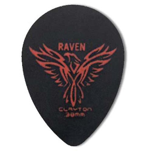 Clayton BLACK RAVEN PICK SMALL TEARDROP .38MM (72 Pack)